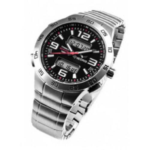 c2dd3684192 Pánské titanové multifunkční hodinky MEORIS G038Ti - červená