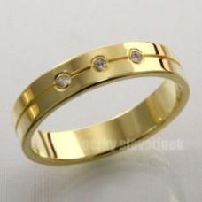 Snubní prsten s briliantem 929BR