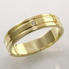 Snubní prsten s briliantem 935BR