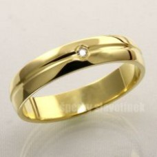 Snubní prsten s briliantem 938BR