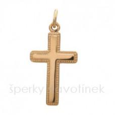 Zlatý přívěsek - kříž 864P
